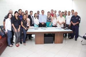 Grupo de Trabalho do Cidade de Paz com o prefeito Claudevane Leite.