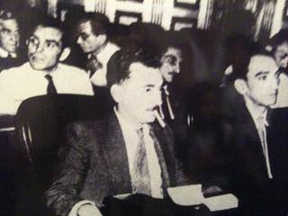 Foto histórica de Jorge Amado na constituinte de 1945.