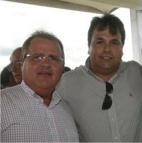 """Geddel e Ubaldino (ex-prefeito de Porto Seguro cassado por improbidade administrativa) estarão """"juntos"""" em Teixeira de Freitas."""