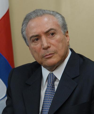 Vice-presidente Michel Temer.