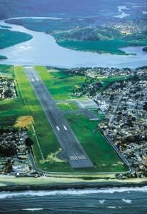 Atual aeroporto de Ilhéus
