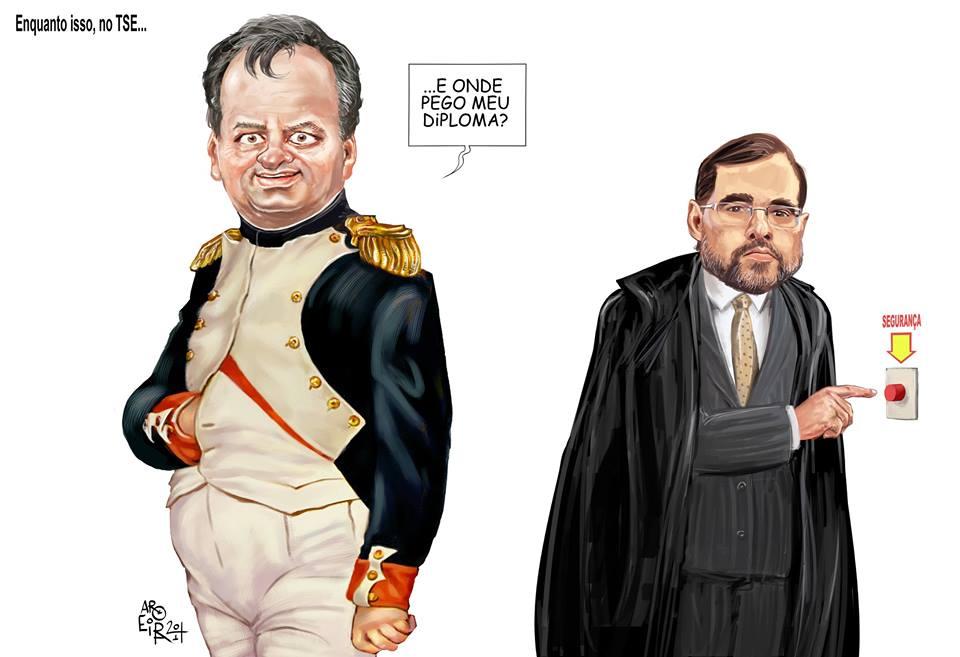 Charge de Renato Aroeira  para o Jornal O Dia.