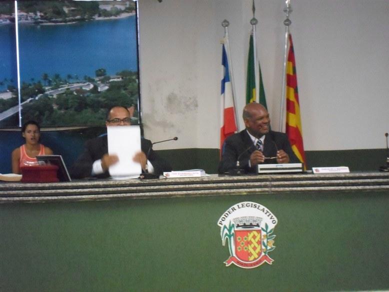 Vereadores Ivo Evangelista e Josevaldo Machado. Imagem: Thiago Dias/Blog do Gusmão.