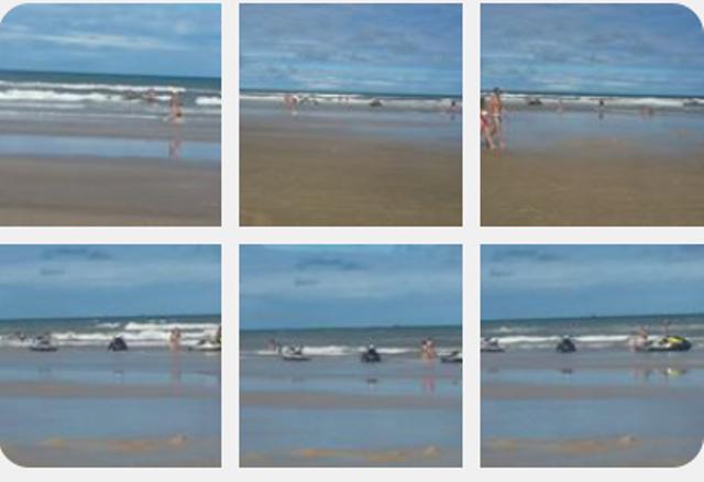 """Três jet skis flagrados na """"Praia dos Milionários"""", em Ilhéus."""