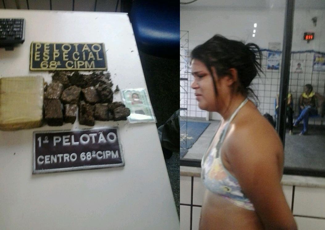 Dilma foi flagrada com 714 gramas de maconha.