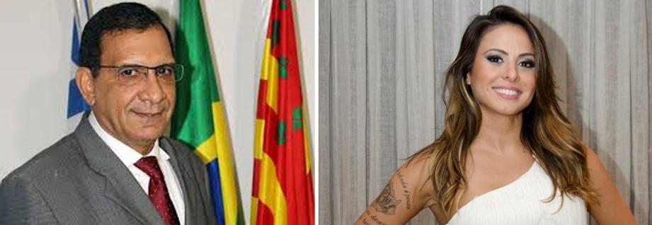 Jabes Ribeiro e Alinne Rosa. Imagens: Alfredo Filho/Secom e Bob Paulino/TV Globo.