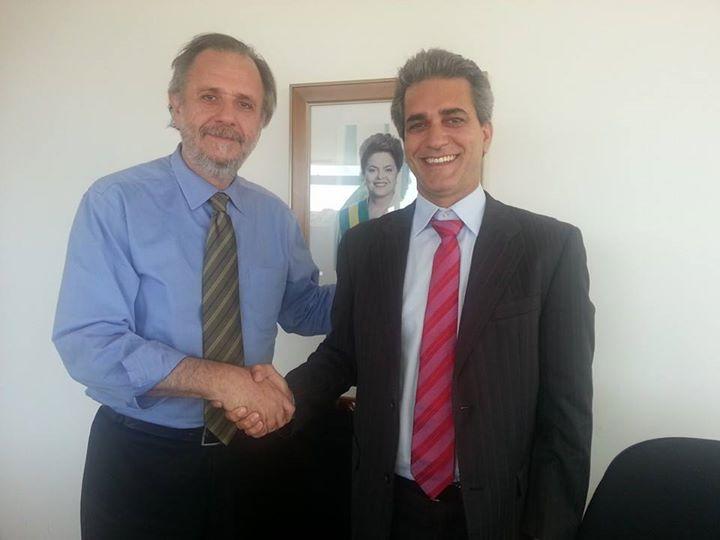 Miguel Rosseto e Robinson Almeida. Imagem: Facebook/Reprodução.