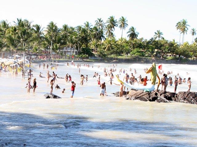 Praia de Olivença. Imagem: Secom.