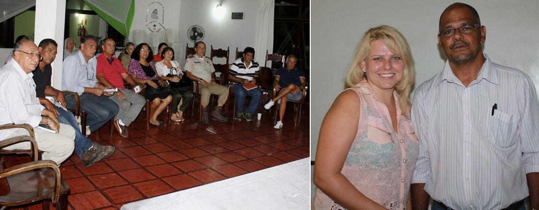 Caroline e Yolando apresentaram a situação financeira do abrigo ao participantes da reunião.