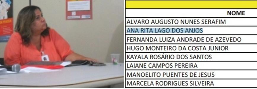 Rita é esposa do vice-presidente e foi selecionada.
