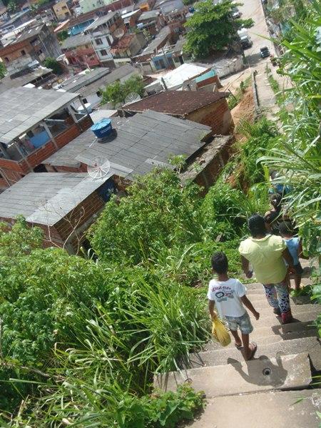 Escadaria do Alto do Coqueiro. Imagem: NR/PSOL.