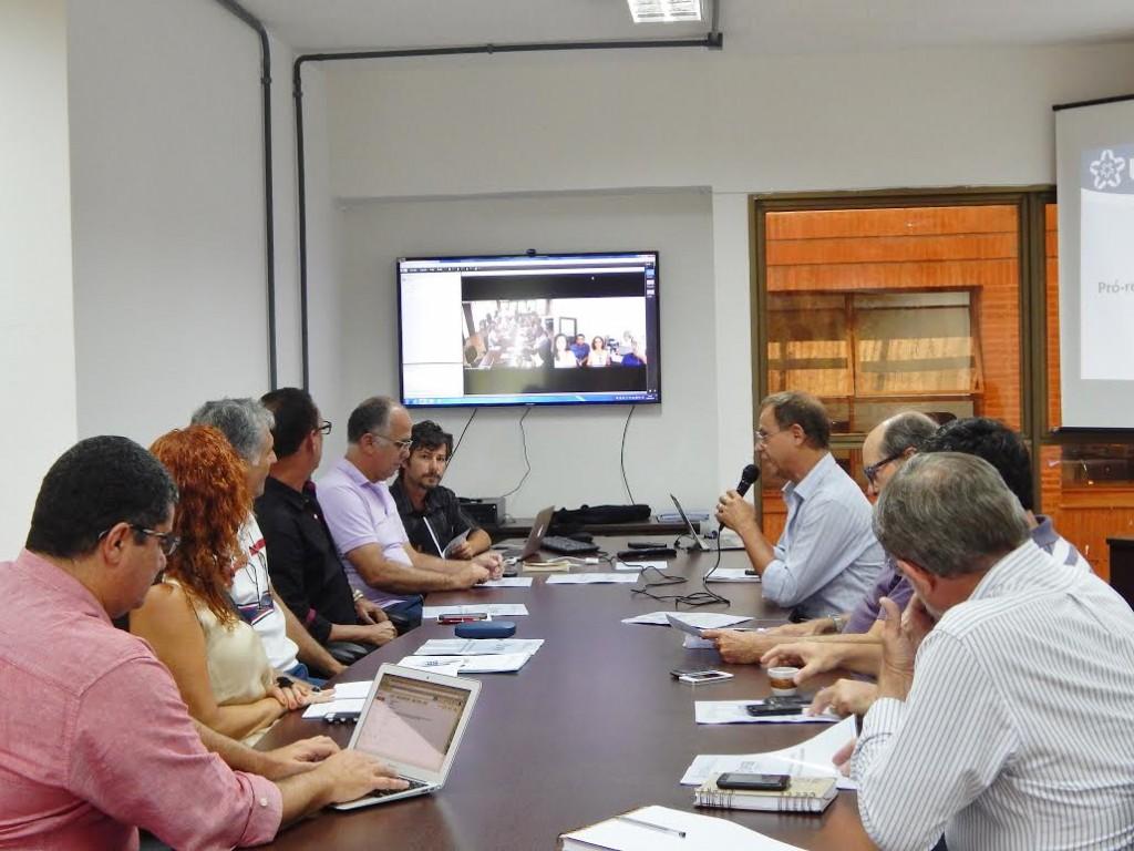 Primeira Reunião do Comitê Consultivo de Sustentabilidade. Imagem: ACS-UFSB.