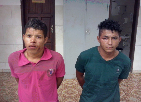 Genilson e Jordy foram presos em flagrante. Imagem: Polícia Militar.