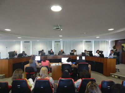 Primeira sessão de 2015 do Tribunal de Contas do Estado.