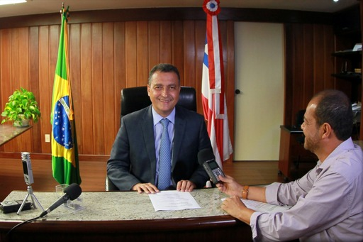 Governador Rui Costa e Edmundo Filho. Imagem: Manu Dias/Gov-BA.