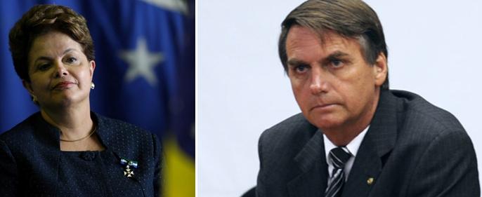 """O vermelho do PT da presidenta Dilma virou """"azul tucano"""", mas, o caminho do Brasil não se confunde com o do deputado Jair Bolsonaro."""