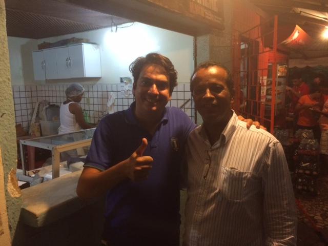 Pedro Tavares e Chico Xavier. Imagem: Emílio Gusmão.