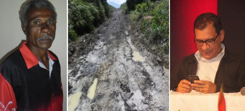 Em 1998, no seu segundo mandato, o prefeito Jabes Ribeiro disse ao povo de distrito de Ribeirão Branco que consertaria a estrada. Seu Téo nunca esqueceu a promessa.