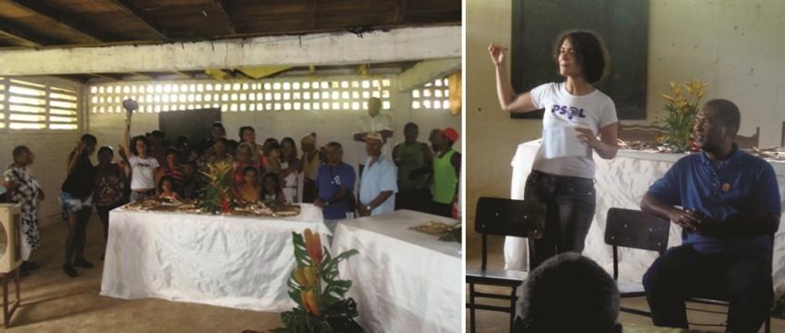 Comunidade do Assentamento Frei Vantuy recebeu militantes do Núcleo de Resistência do PSOL.
