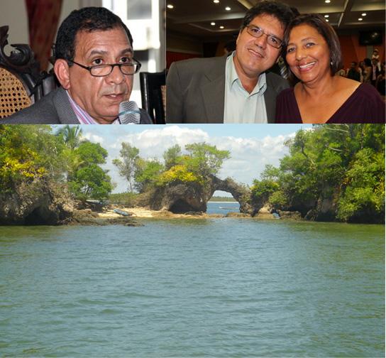 """Edinei Mendonça teve encontro """"quase"""" secreto com emissário de Jabes Ribeiro na Península de Maraú. Imagem da Ilha da Pedra Furada."""