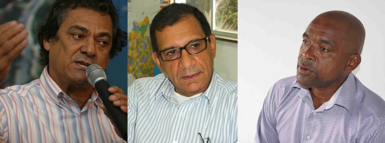 Newton Lima, Jabes Ribeiro e Professor Gurita.