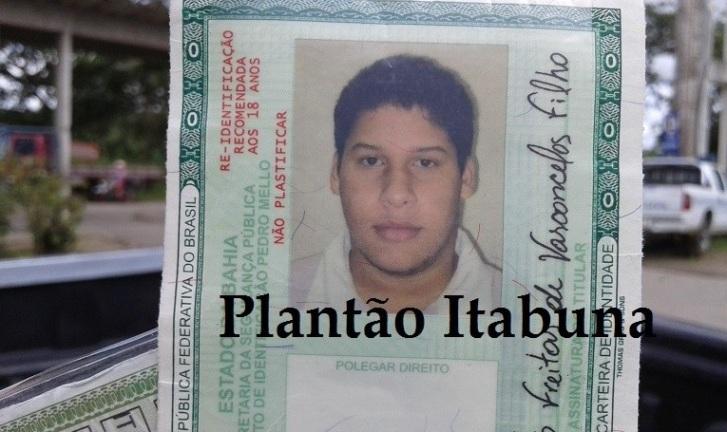 Roberto tinha apenas 18 anos. Imagem: Plantão Itabuna.