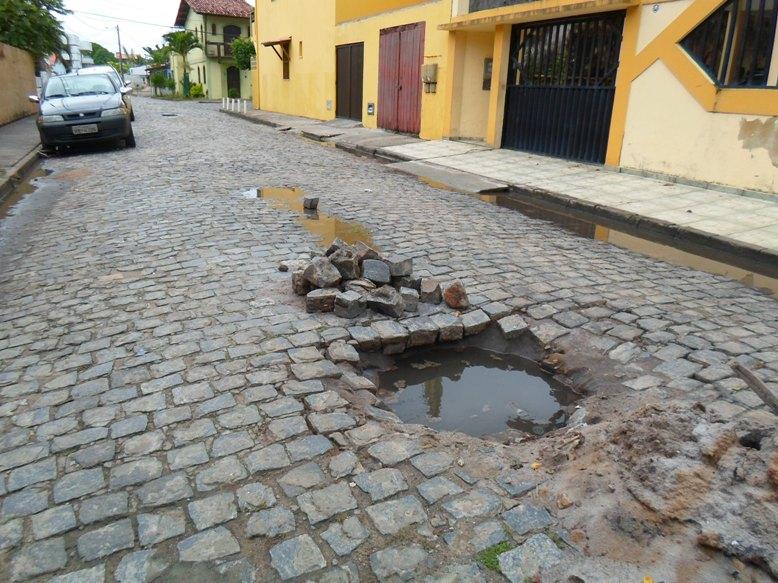 Rua Salgado Filho. Imagens: Thiago Dias/Blog do Gusmão.