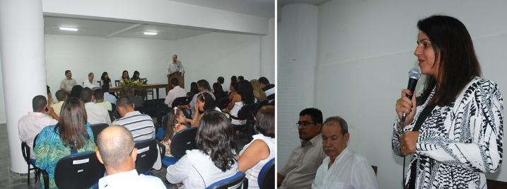 A diretora acadêmica Tatiana Barcelos discursou sobre a importância da formatura para os estudantes.