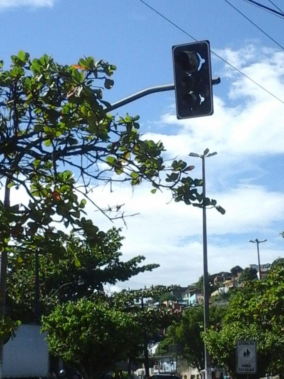 """Segundo leitor, semáforos do Parque Infantil estão quebrados """"há muito tempo""""."""