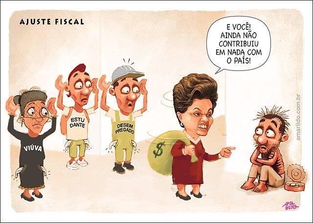Charge do Amarildo para o jornal A Gazeta.