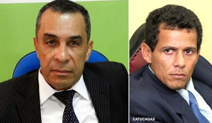 Vereadores Cosme Araújo e Gilmar Sodré. Imagens: Chico Andrade e José Nazal.