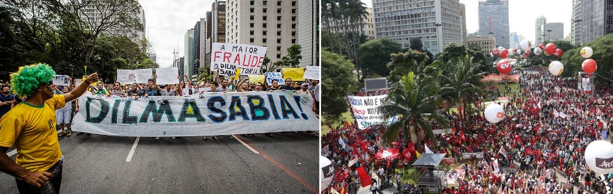 Imagens: Folha e O Globo.