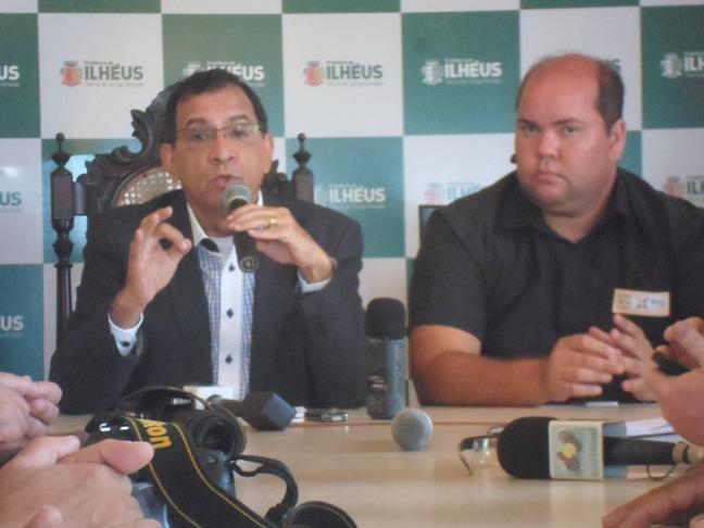 Prefeito Jabes Ribeiro e o vice-prefeito Carlos Machado (Cacá). Imagem de arquivo: Thiago Dias/Blog do Gusmão.