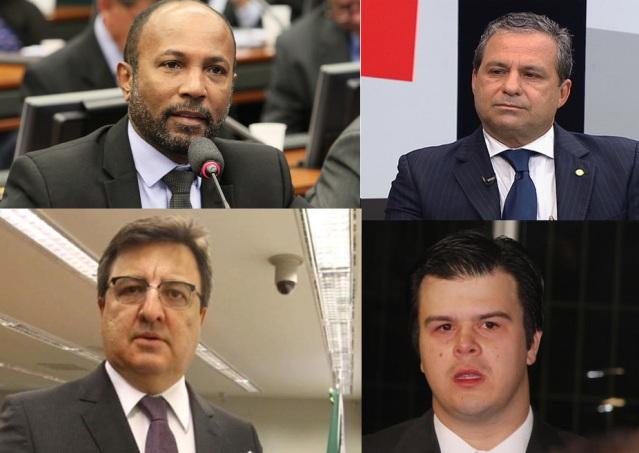 Deputados Bebeto Galvão, Tadeu Alencar, Danilo Forte e Fernando Filho.