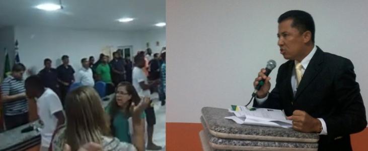 Presidente da Câmara repudiou ato dos servidores. Imagens: Luiz Fernandes e Câmara de Vereadores.