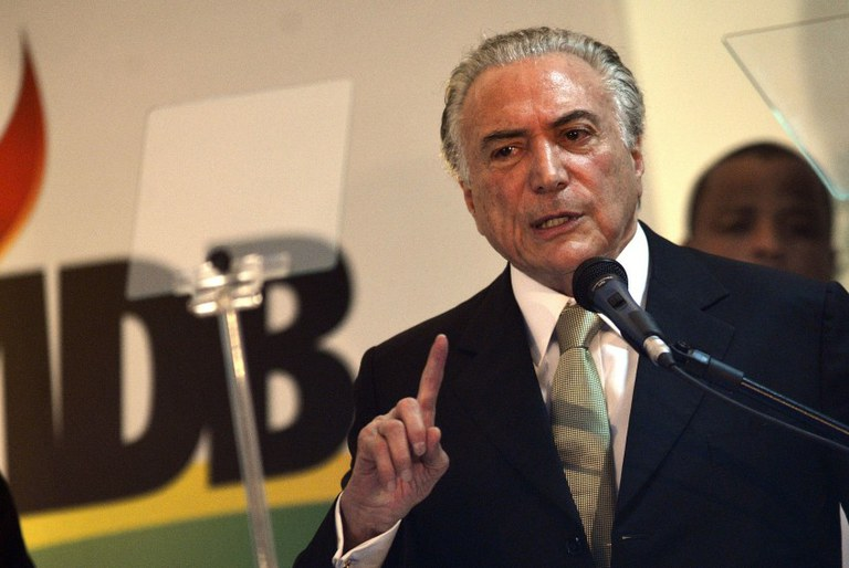Vice-presidente Michel Temer (PMDB). Imagem: José Cruz/Agência Brasil.