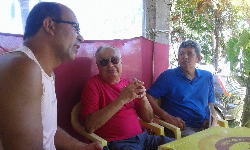 Dero Faria, José Henrique Abobreira e Alisson Mendonça. Imagem: Thiago Dias/Blog do Gusmão.