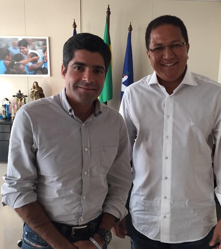 ACM Neto e Augusto Castro.