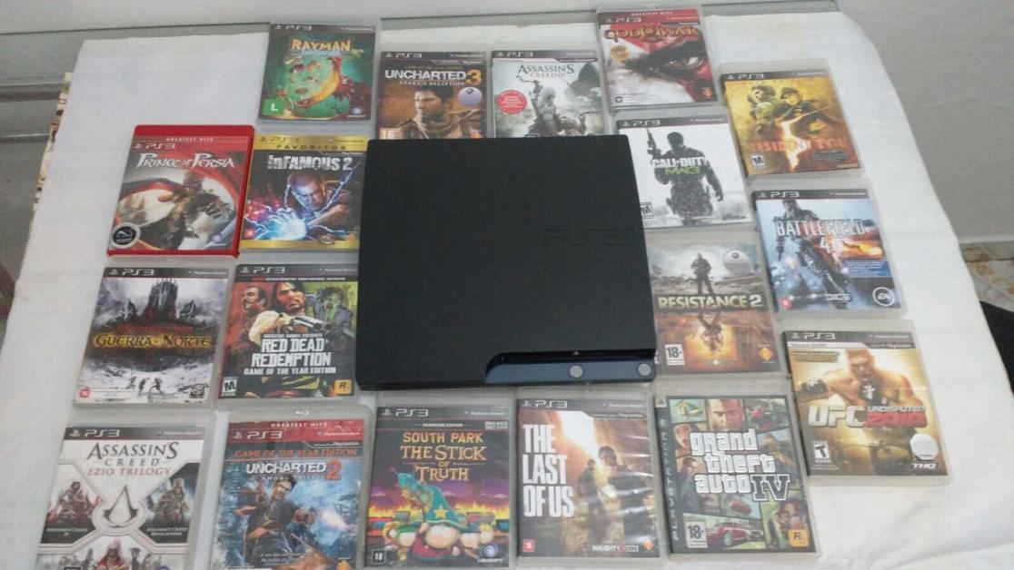 Console e jogos: R$ 800.