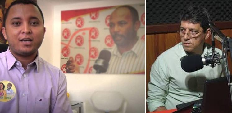 Alisson Gonçalves e o vereador Alisson Mendonça (PT).