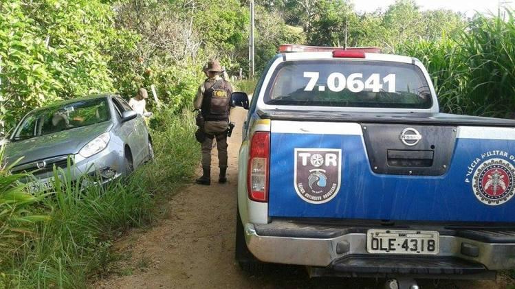 Imagem registrada pelos policiais militares que socorreram a vítima.