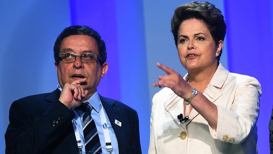 João Santana e Dilma Rousseff.