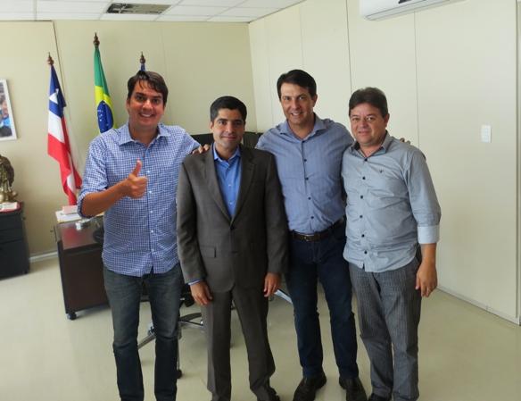 Pedro Tavares, ACM Neto, Arthut Maia e Valmir Freitas.