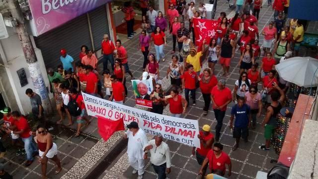 manifestação PT