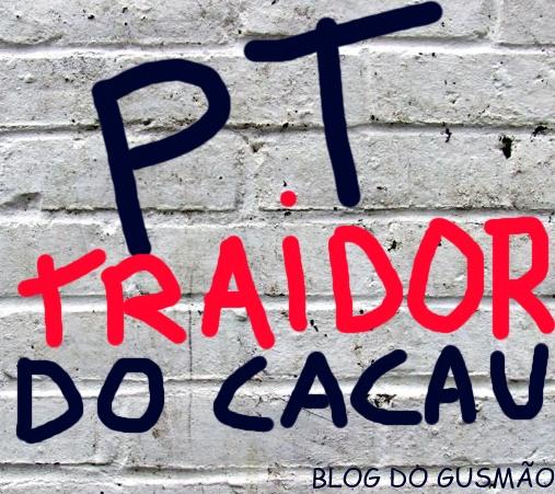 """Na década de 1980, os militantes do PT que trabalhavam na CEPLAC,  chamavam de """"traidores"""" os políticos que questionavam o órgão. Muitos anos depois, a presidente Dilma, do PT, rebaixou a instituição para departamento. Montagem: Blog do Gusmão."""