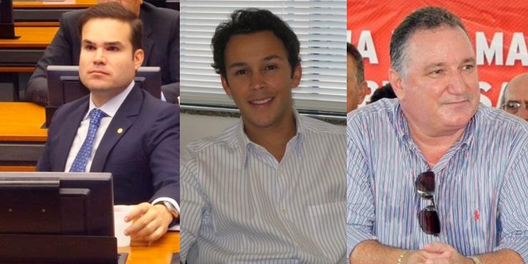 Deputados Cacá Leão, Mário Negromonte Júnior e Ronaldo Carletto. Montagem: Varela Notícias.