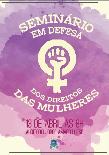 Cartaz do seminário que será realizado na manhã dessa quarta (13).