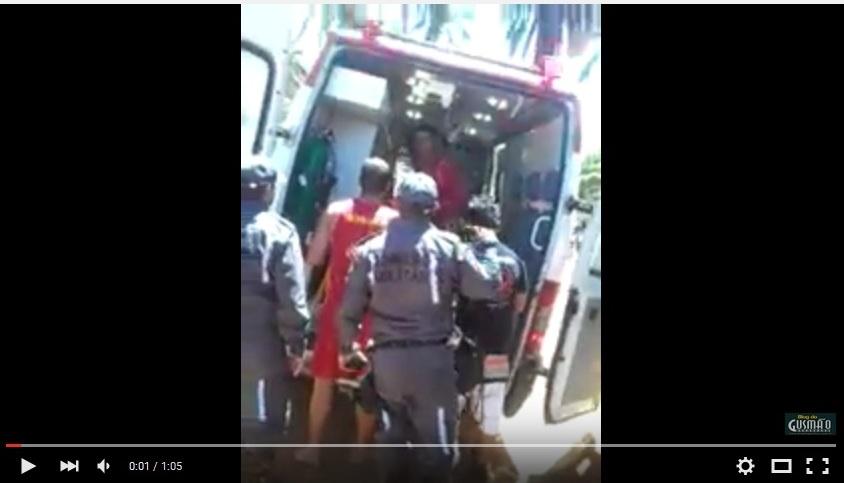 Imagem extraída do vídeo enviado para o Blog do Gusmão.
