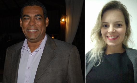 Gil Gomes e Renata Mendonça.
