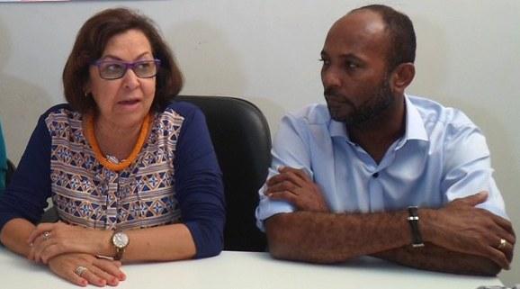 Lídice da Mata e Bebeto Galvão. Imagem: Thiago Dias/Blog do Gusmão.